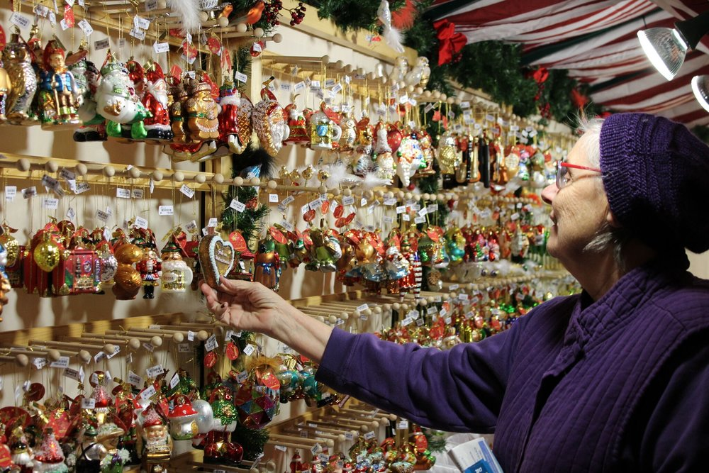 Patron Browsing German Ornaments