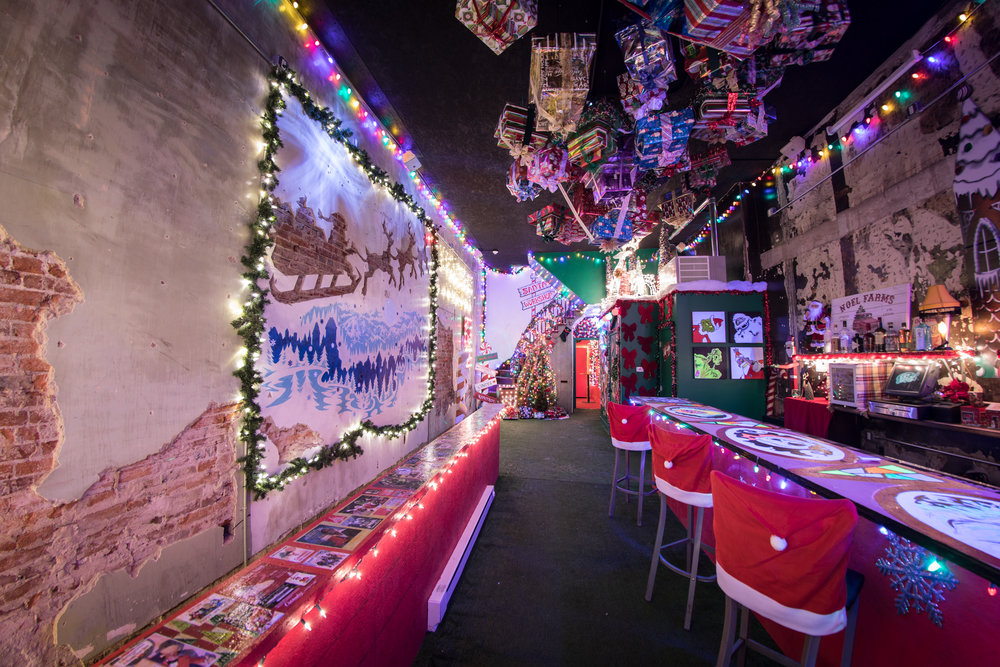 Tinsel Christmas Pop Up Bar Interior