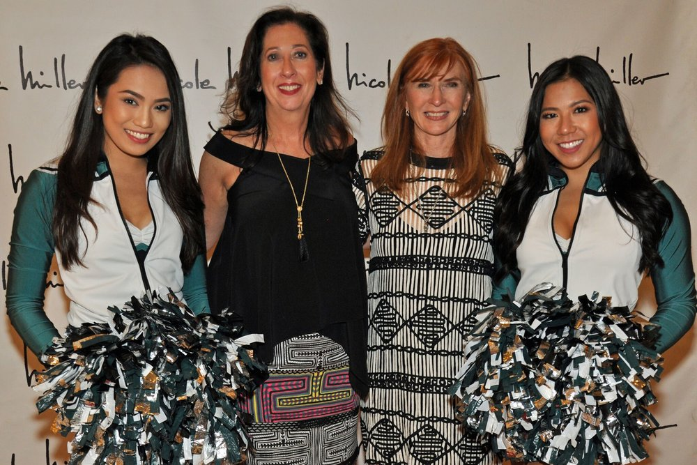 Nicole Miller and Eagles Cheerleaders