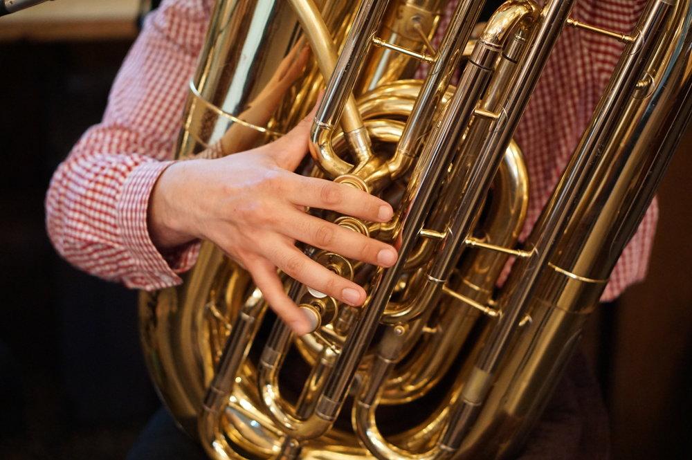 Man Playing Brass Instrument at Maifest 2018