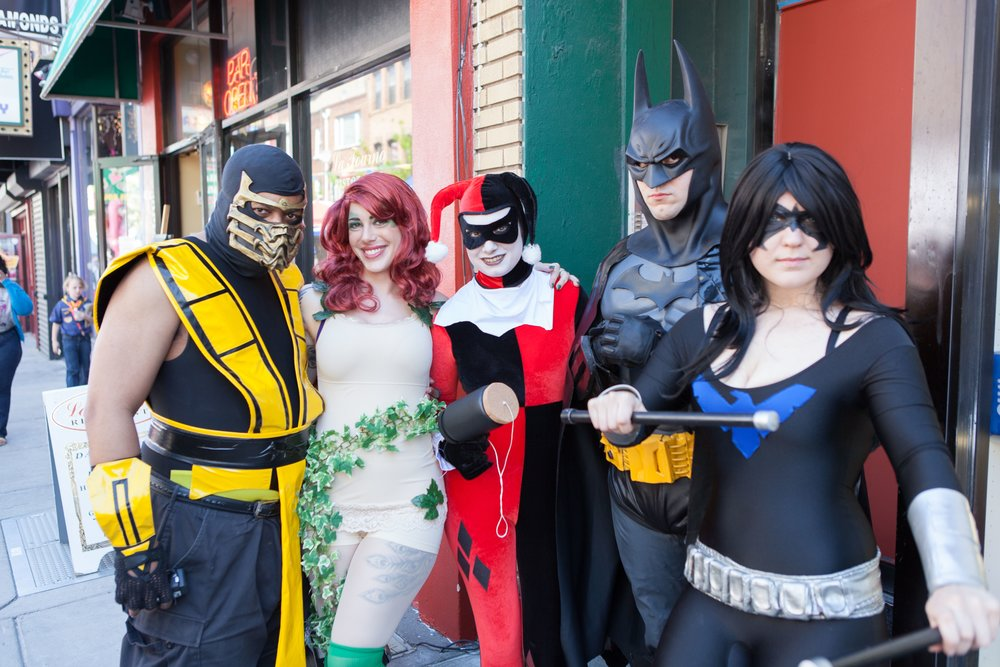 Cosplayers at South Street Spring Fest Free Comic Day