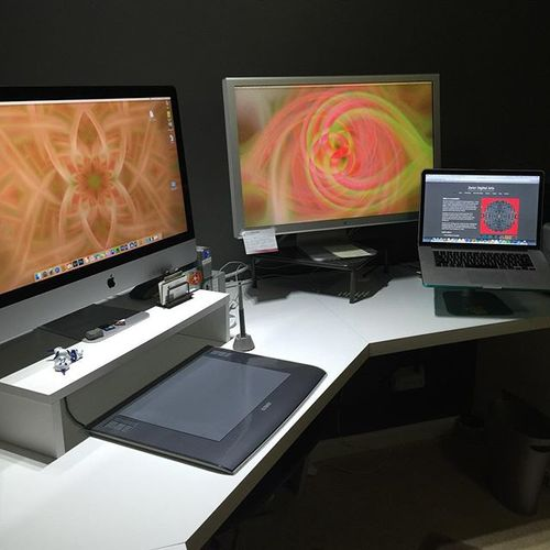 My studio, where original photography is transformed into new digital art for your home or business.