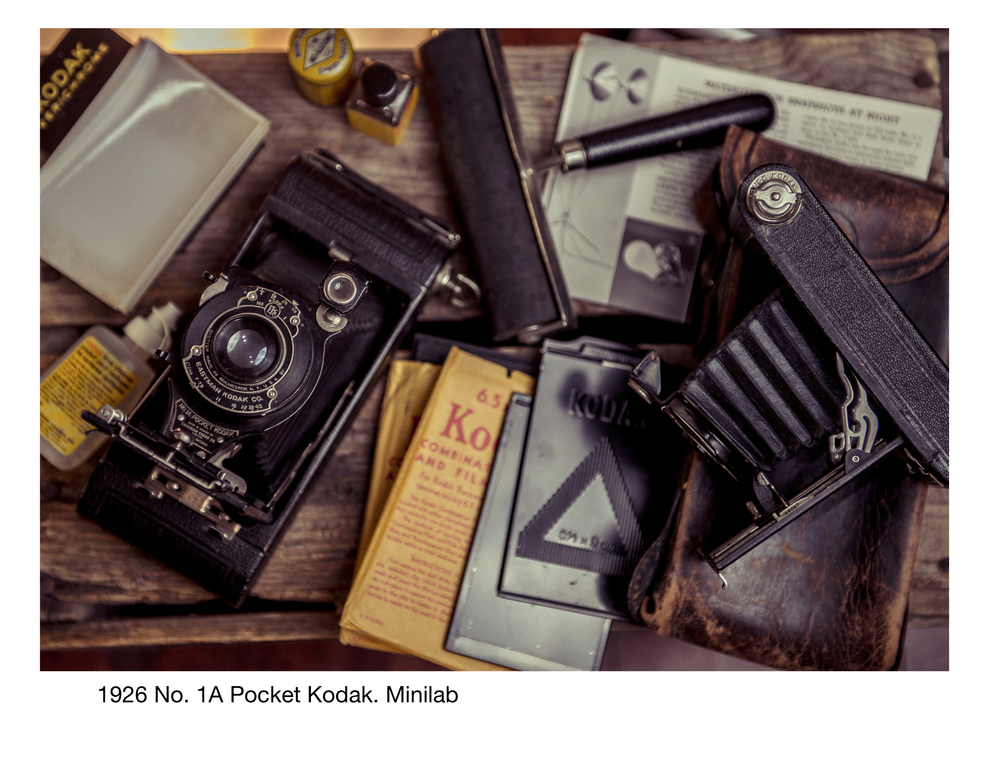 1926 No. 1A Pocket Kodak. Minilab