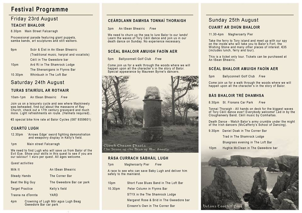 Full three day programme - something for all the family, everyday.