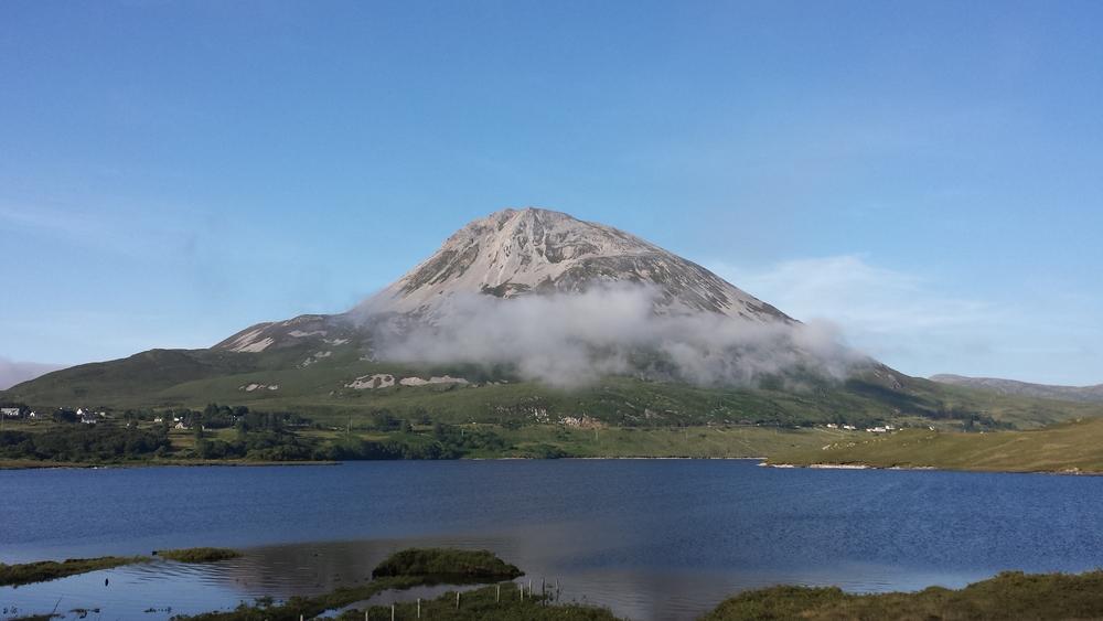 View for Rock n Roam'rs of Errigal Mountain from Poisoned Glen