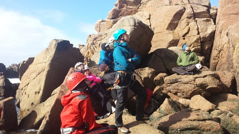 Rock climbing on Cruit Island
