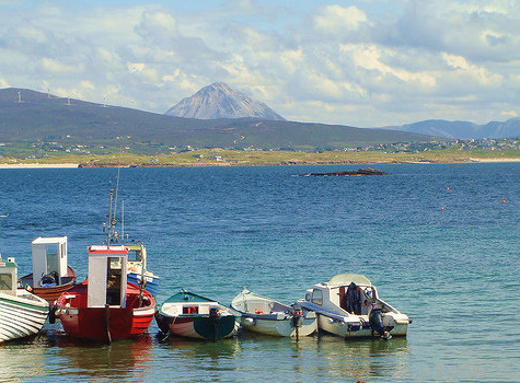 View from Gabhla Island to the mainland.