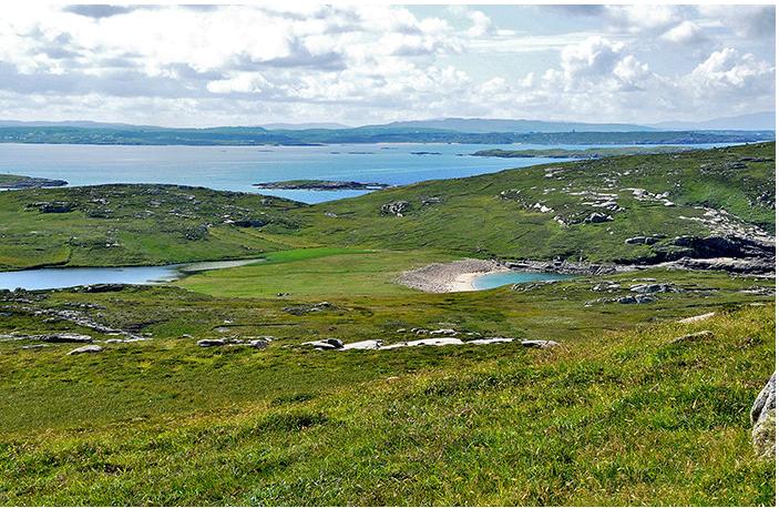 Landscape view on Gabhla Island.