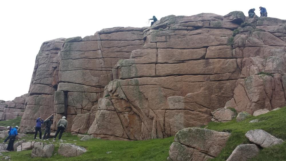 Rock climbing site on Gola Island