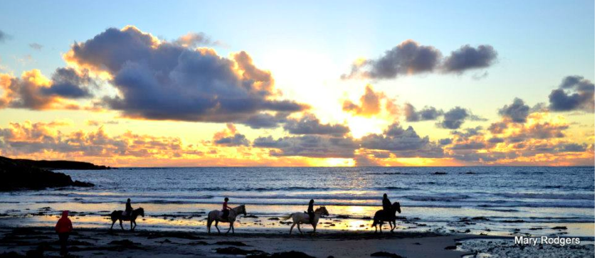 Horse riding on Maghery Beach