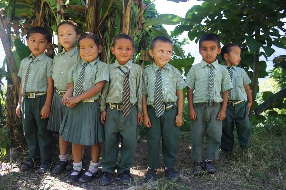 Children from the Bal Prativa School