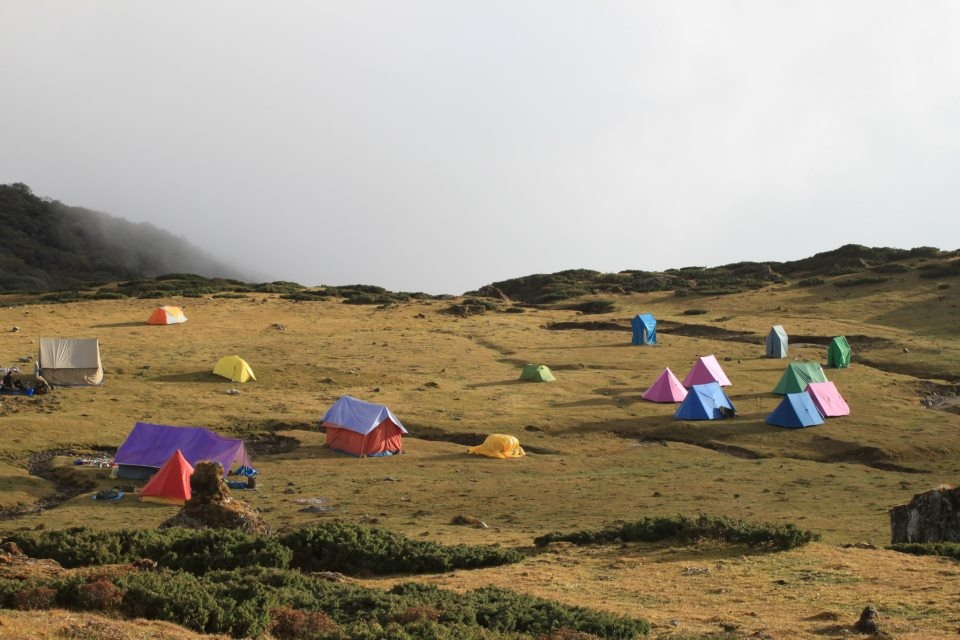 Campsite at 4000 metres