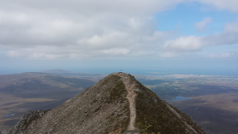 The top of Errigal mountain, the highest mountain in Donegal. Stunning.