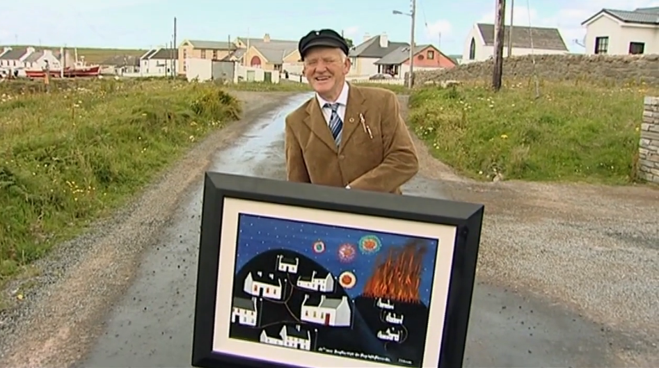 The king of Tory Island and artist. Patsy Dan Mac Ruaidhrí