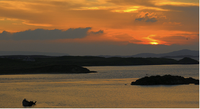 Sunset Gweedore, Donegal, Ireland. Photo credit Joanna Melon.