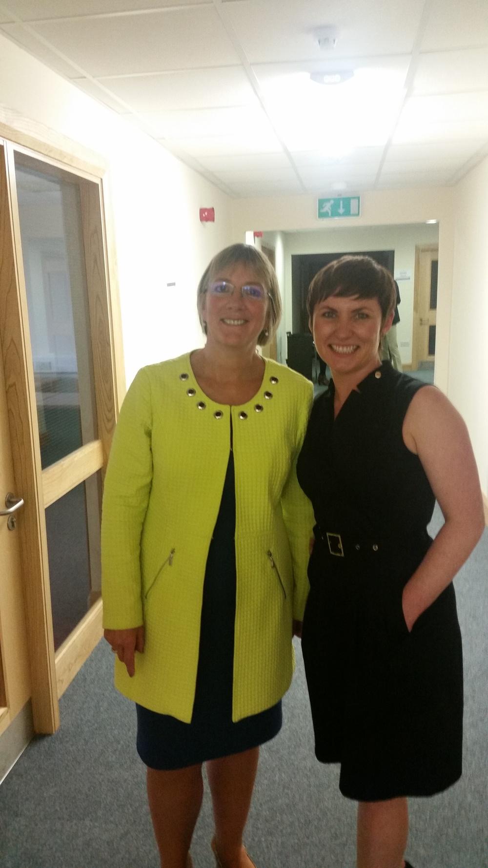 Julie Sinnamon CEO Enterprise Ireland & Moira Ní Ghallachóir CEO & founder of mng