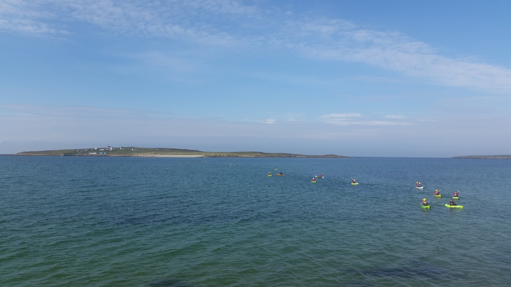 Kayakers on the Atlantic with our Donegal islands in the back ground.