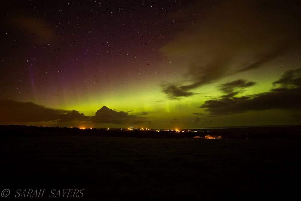 Aurora Borealis / Northern Lights Donegal - Taken by renowned local photographer - Sarah Sayers, Falcarragh, Donegal, Ireland
