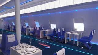 pop-up restaurant in a plane cabin by Cake design consultancy