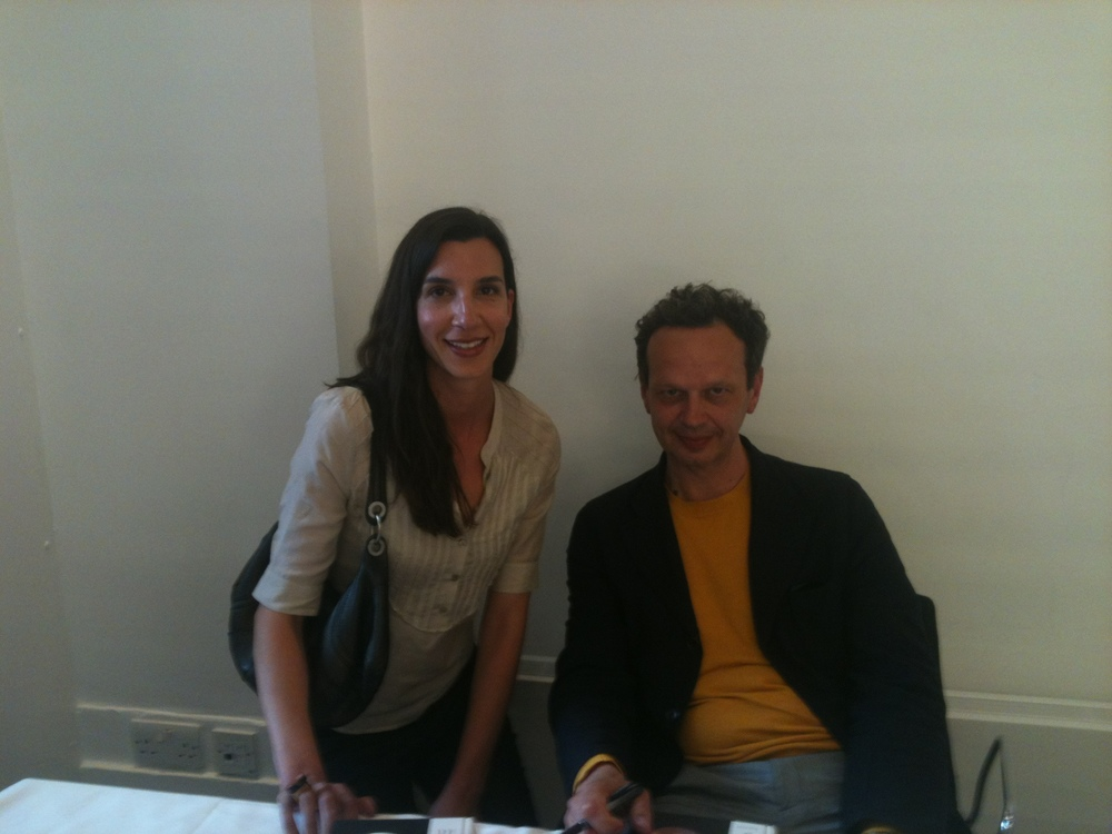 Pic with Tom DIxon at 'Dixonary' event at the V&A Museum