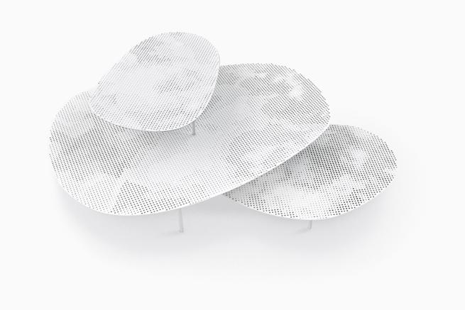 Nendo Cloud tables for Moroso