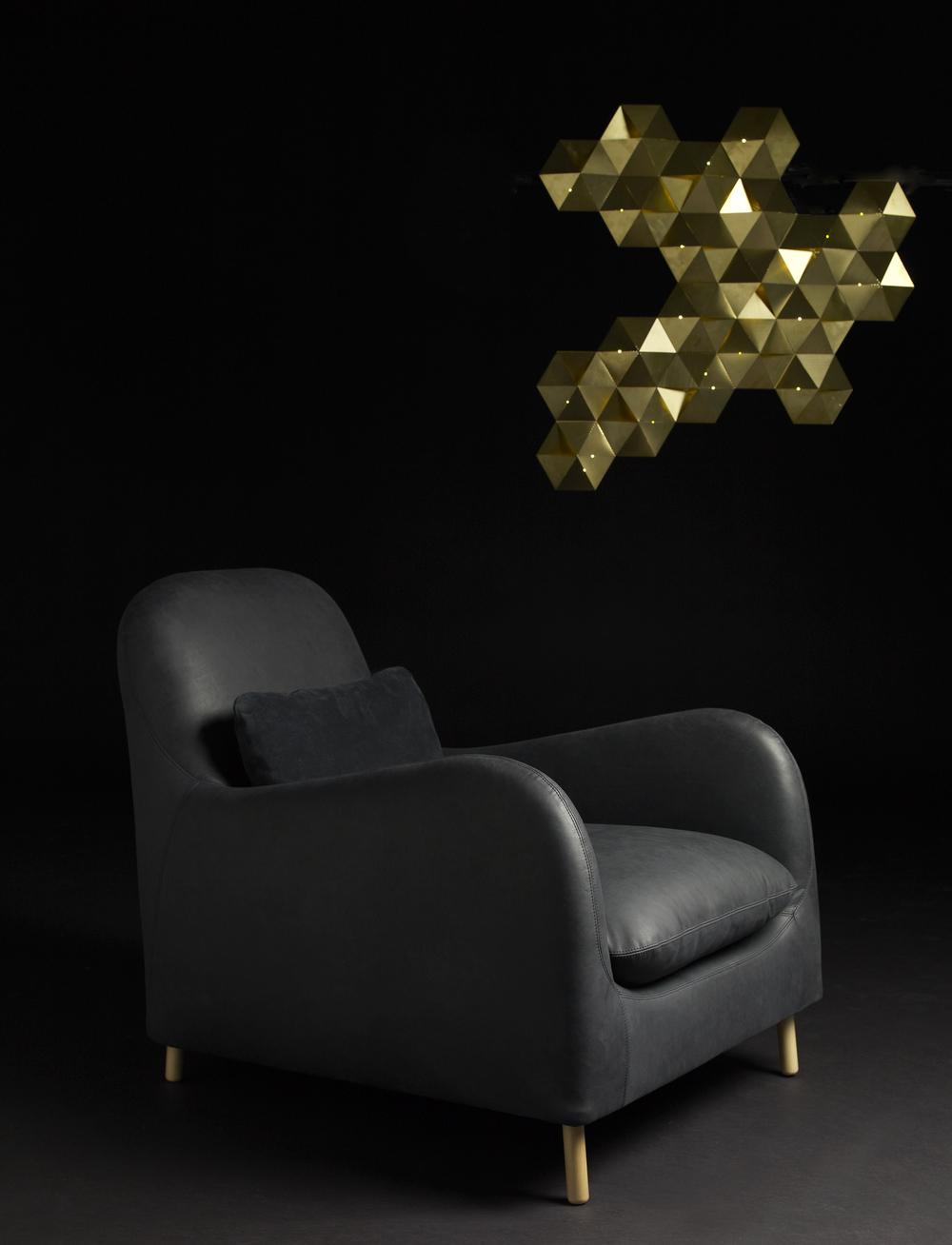 Aaron Probyn / Tessellate wall light + Smithfield armchair