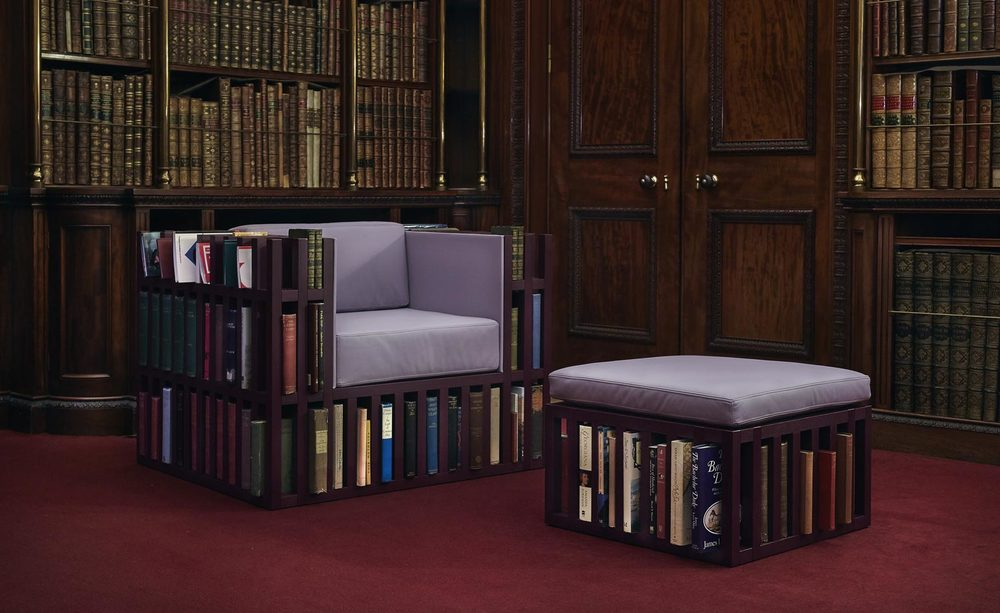 The Bibliochaise by Nobody & Co. got a colour makeover for the exhibition