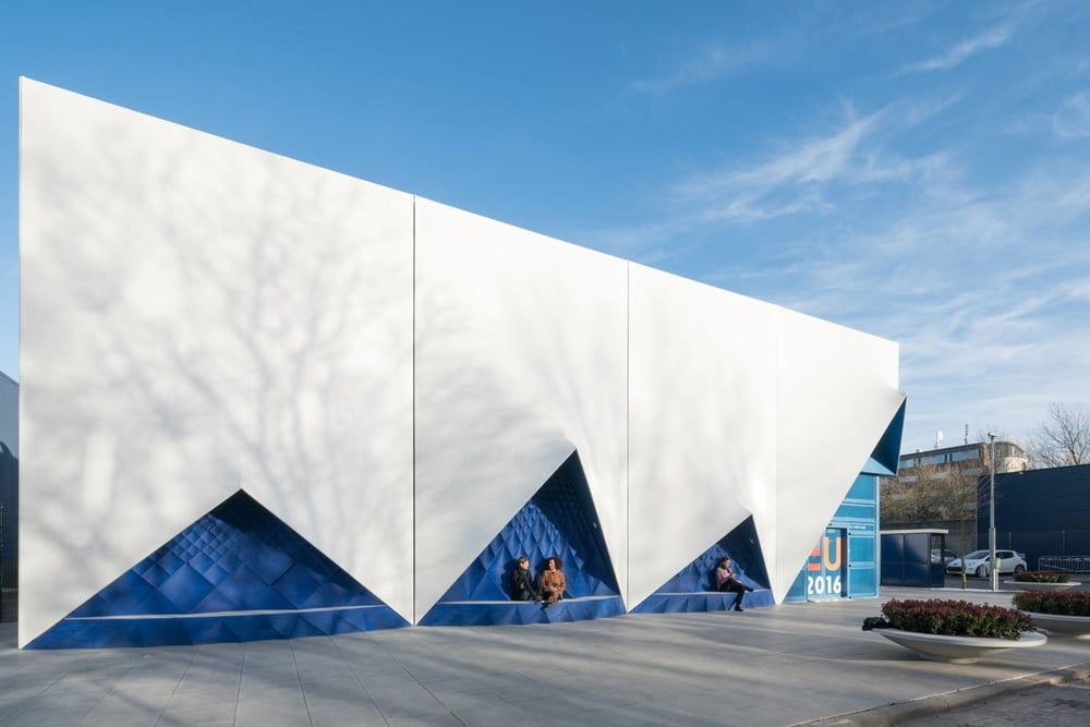 DUS architects / Facade for Dutch eu presidency / London Design Journal