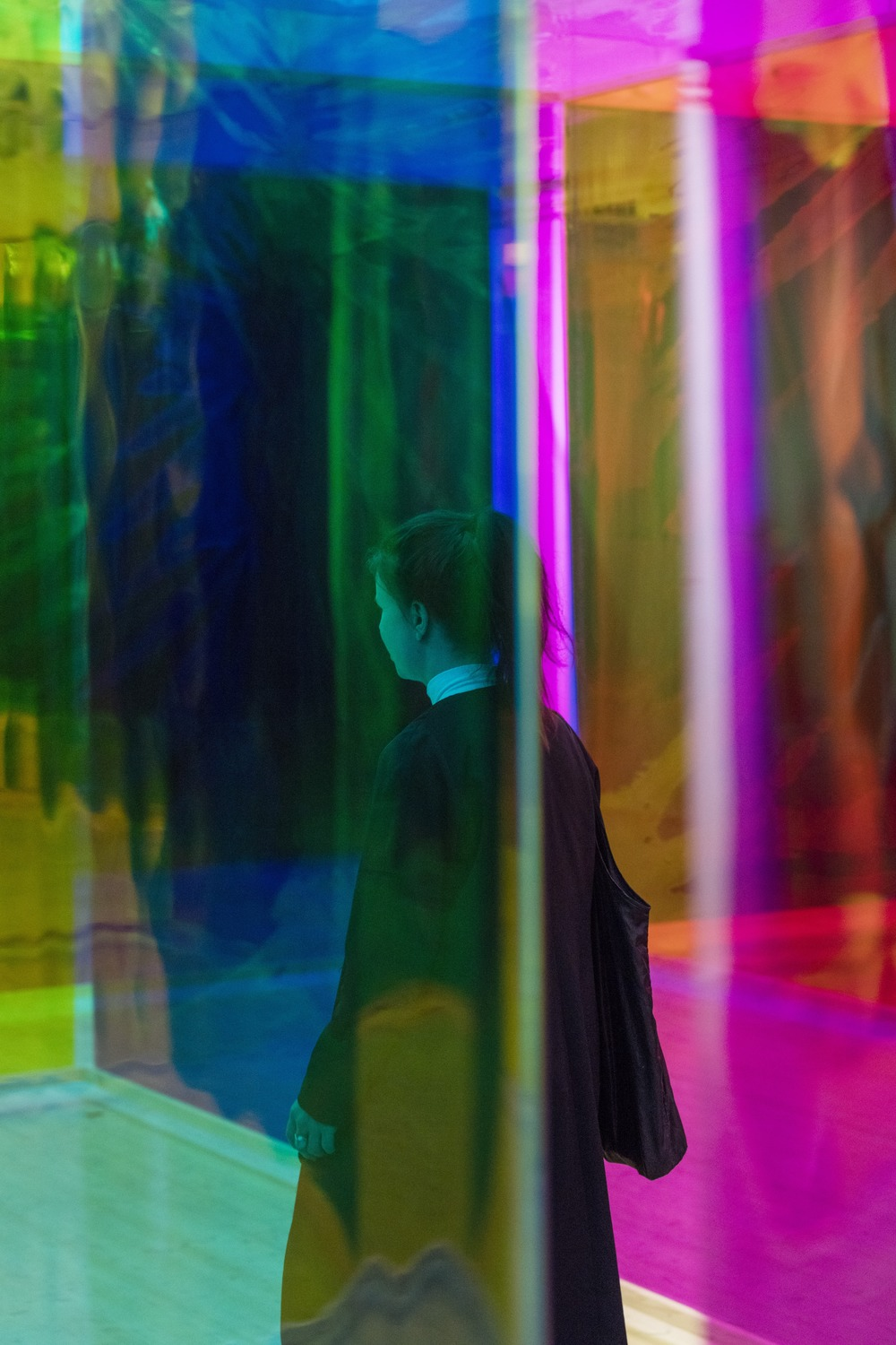 Your body of work, colour filter foil / Moderna Museet, Stockholm 2015 / Photo: Anders Sune Berg © Olafur Eliasson