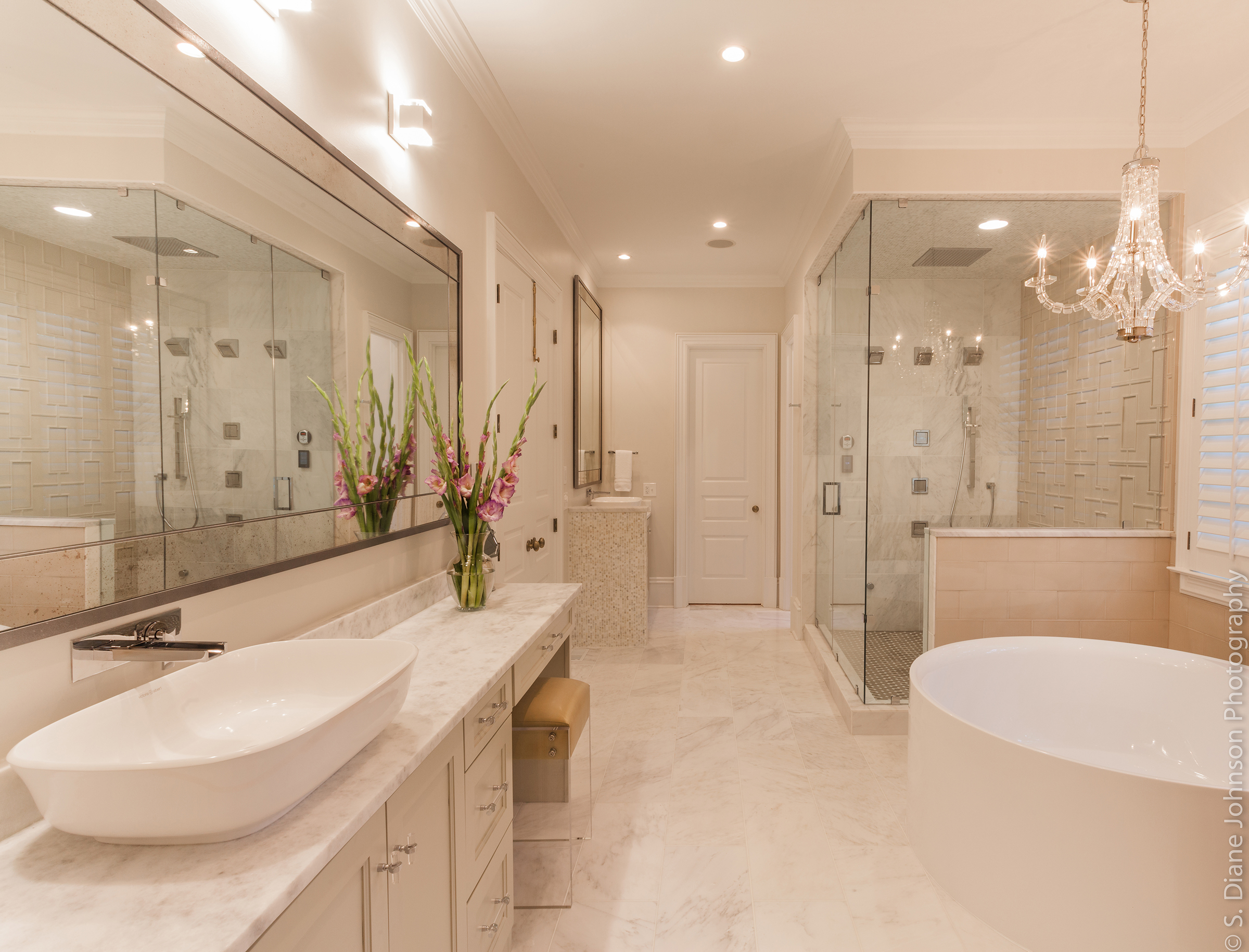Master Bedrooms With Bathrooms Club Drive Master Bath Design - Small bathroom remodel atlanta