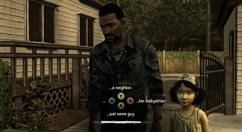 A decision point in  The Walking Dead