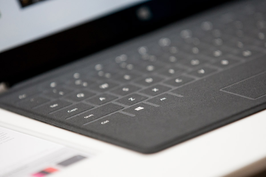 The Surface's Touch Keyboard
