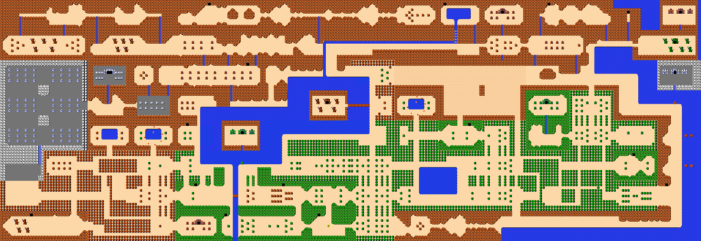 The entire Legend of Zelda overworld.