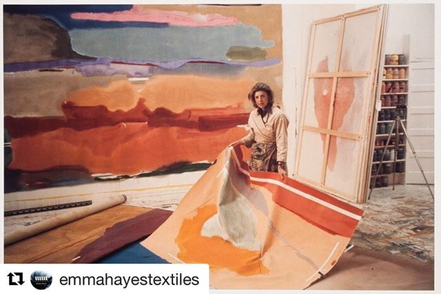 #Repost @emmahayestextiles ・・・ Inspired today by Helen Frankenthaler and her perfect studio space. #fluidshapes #abstractforms #largeformat #helenfrankenthaler