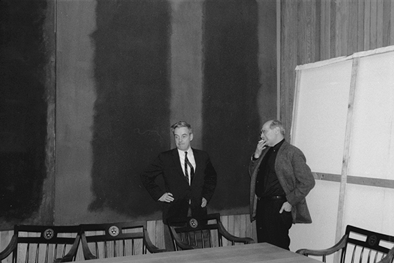 Mark Rothko and Fogg Art Museum Director John Coolidge