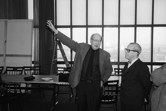 Mark Rothko and Josep Lluís Sert in the Holyoke Center penthouse
