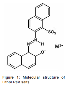 "Molecular structure of ""the fugitive"" pigment"