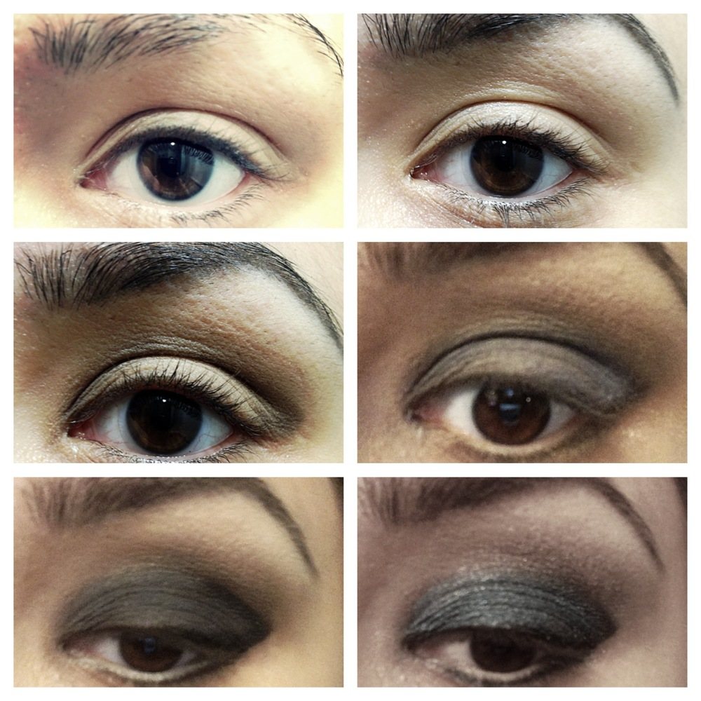 *Finish with Black Smashbox liner, Add mascara, Maybelline Black, and fake lashes if needed,