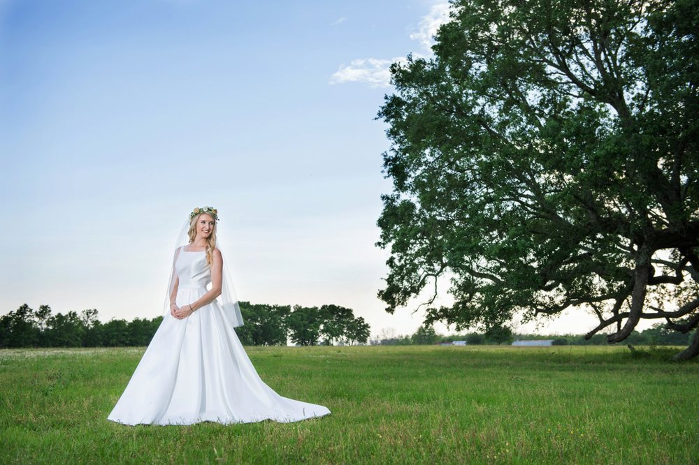 We had a gorgeous day!  Venue: Oak Hollow Farm  Dress: Bliss Bridal