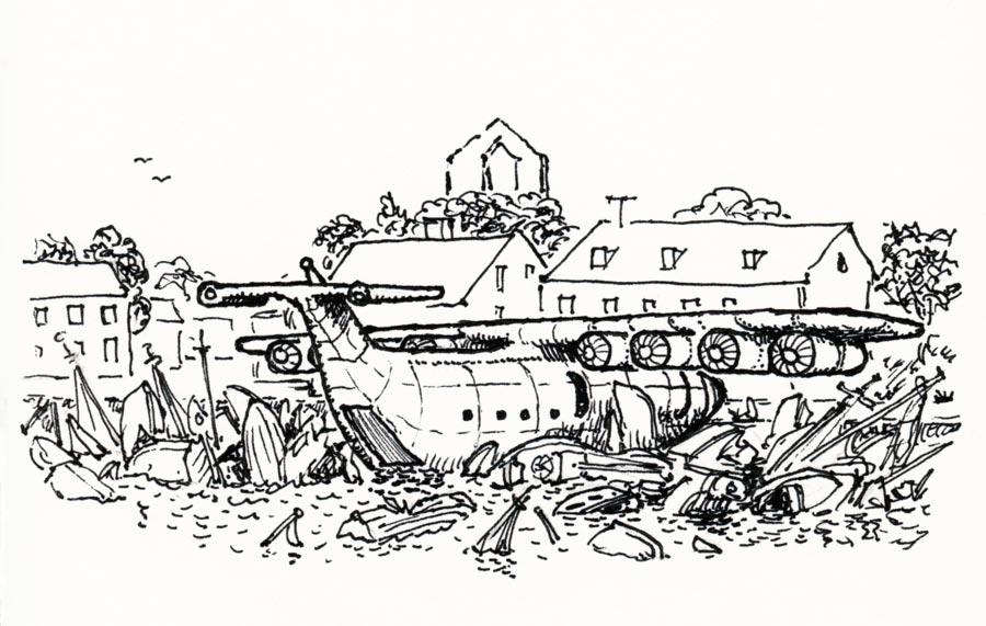 Kufar besöker Visby hamn