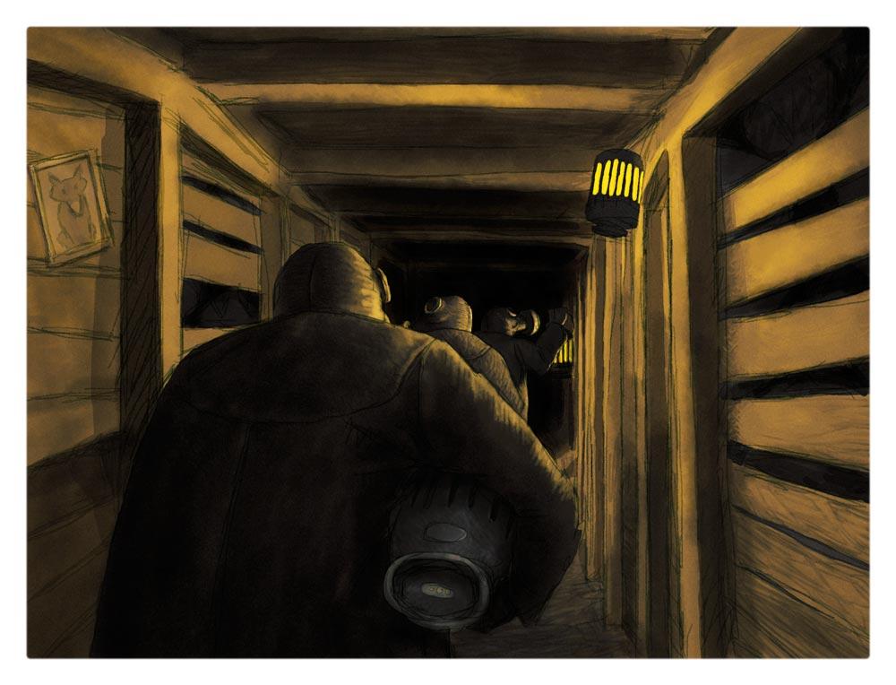kuf014 – Kufar i gruvan  – 20 x 15 cm  Upplaga 50 ex  .  420 kr