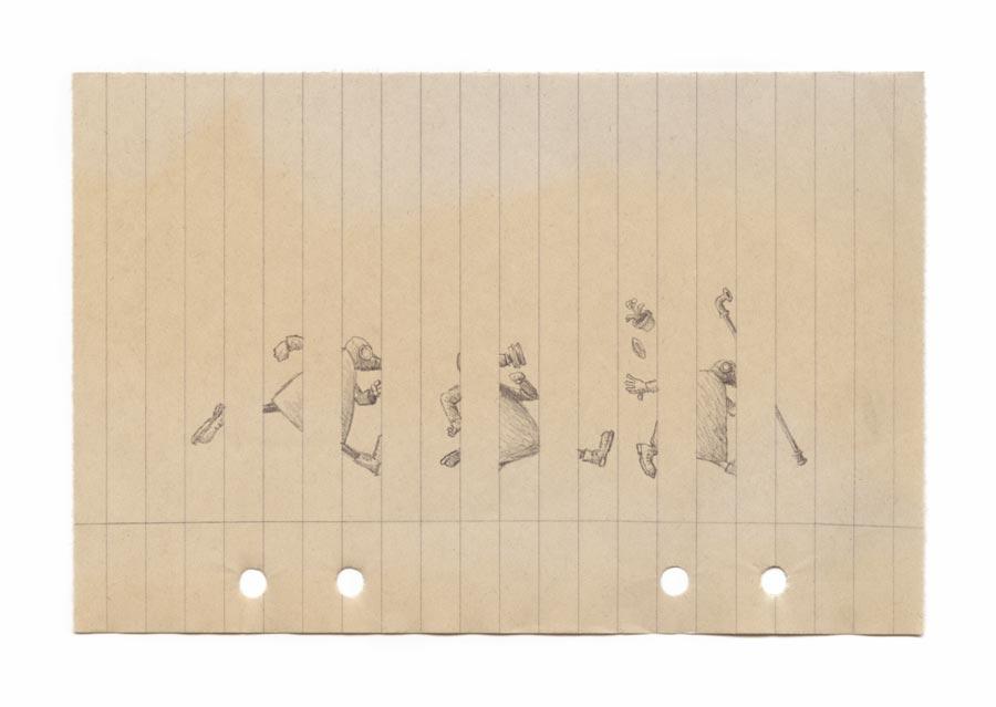 kuf016 – Kufar i pelarsal  – 20 x 14 cm  Upplaga 50 ex  .  360 kr