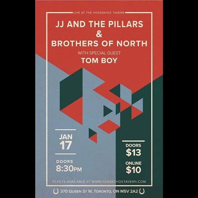 SHOW ANNOUNCEMENT!!! January 17th at the @horseshoetavern with the great @jjandthepillars!!! - BONUS    if #williamnylander signs with the @mapleleafs, we'll play a NEW SONG!!!!