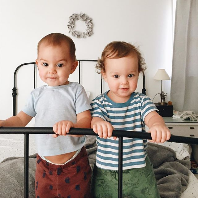 Abel and Leo invite you to follow the link in my profile to video their Papa made of their first year. It's super great, 5 out of 5 stars they say.
