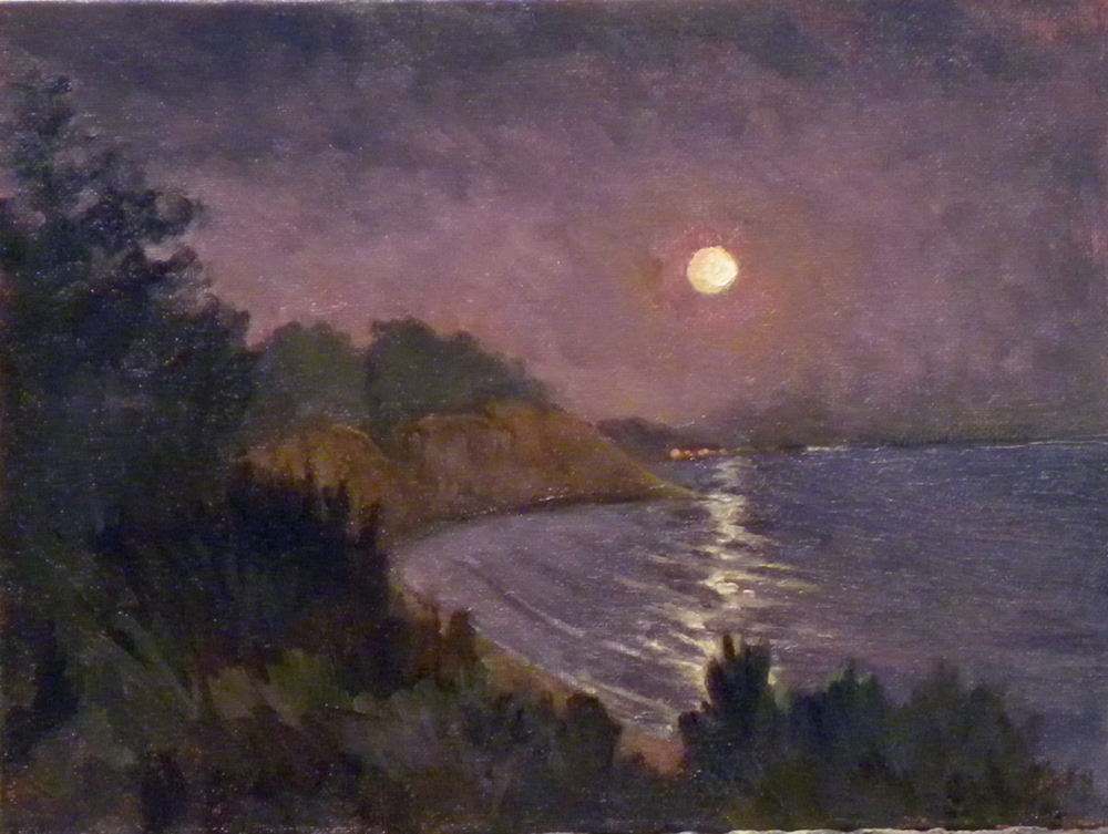 Summerland Moon, 9 x 12 inches