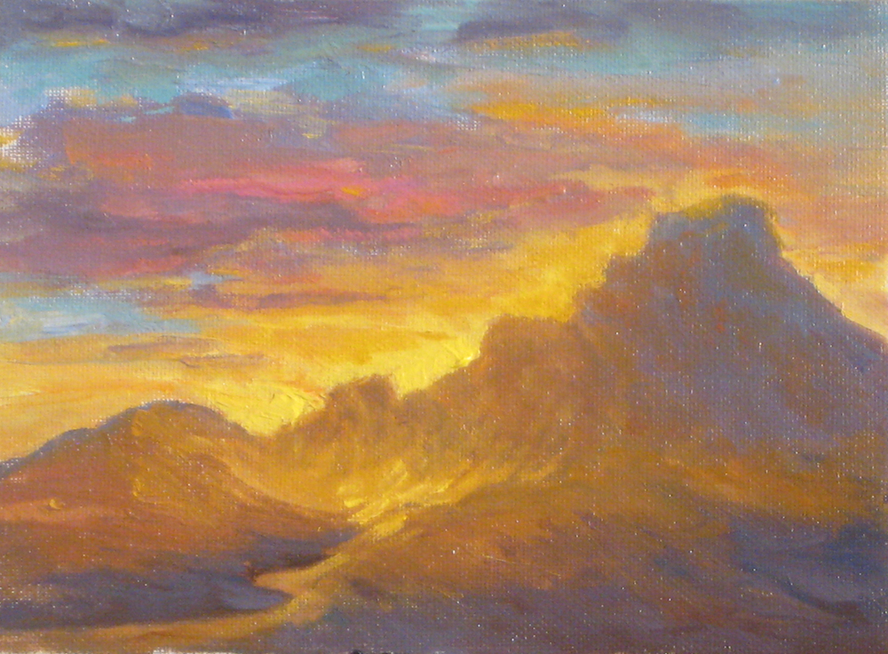 Arizona Sunset, 6 x 8 inches