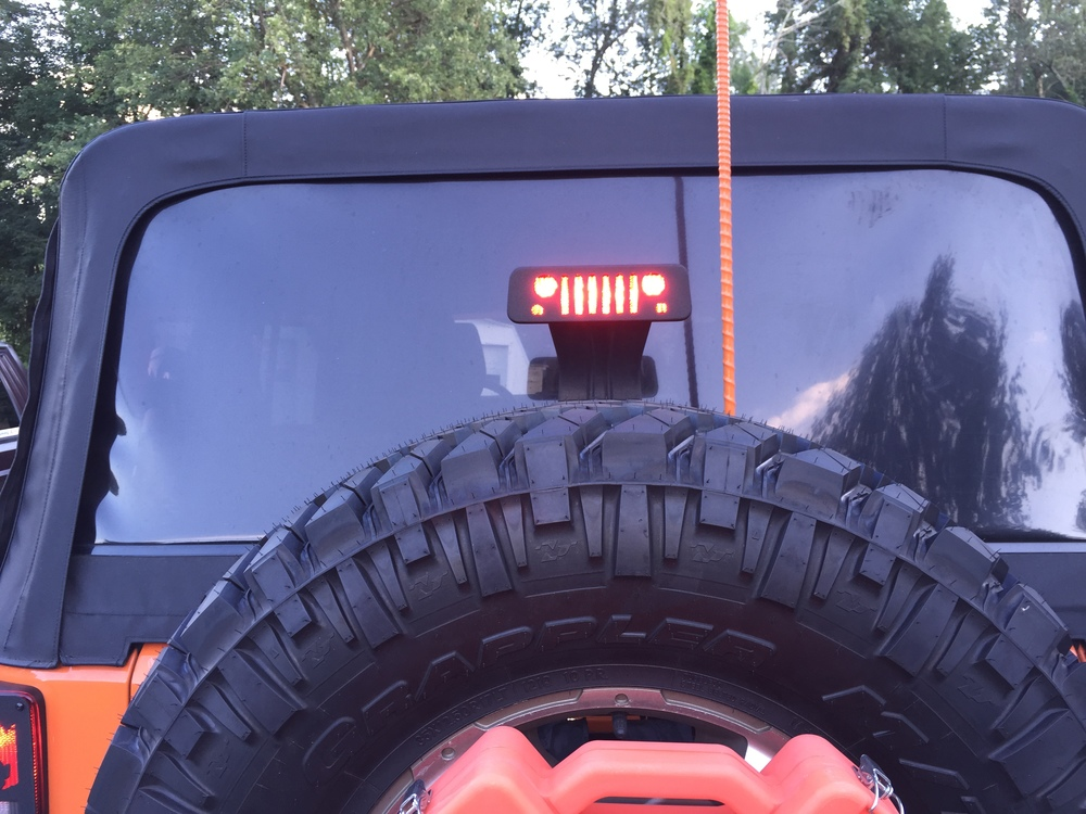 Jeep 174 Wrangler Third Brake Light Guard Quot Jeep Grill Quot Jeep