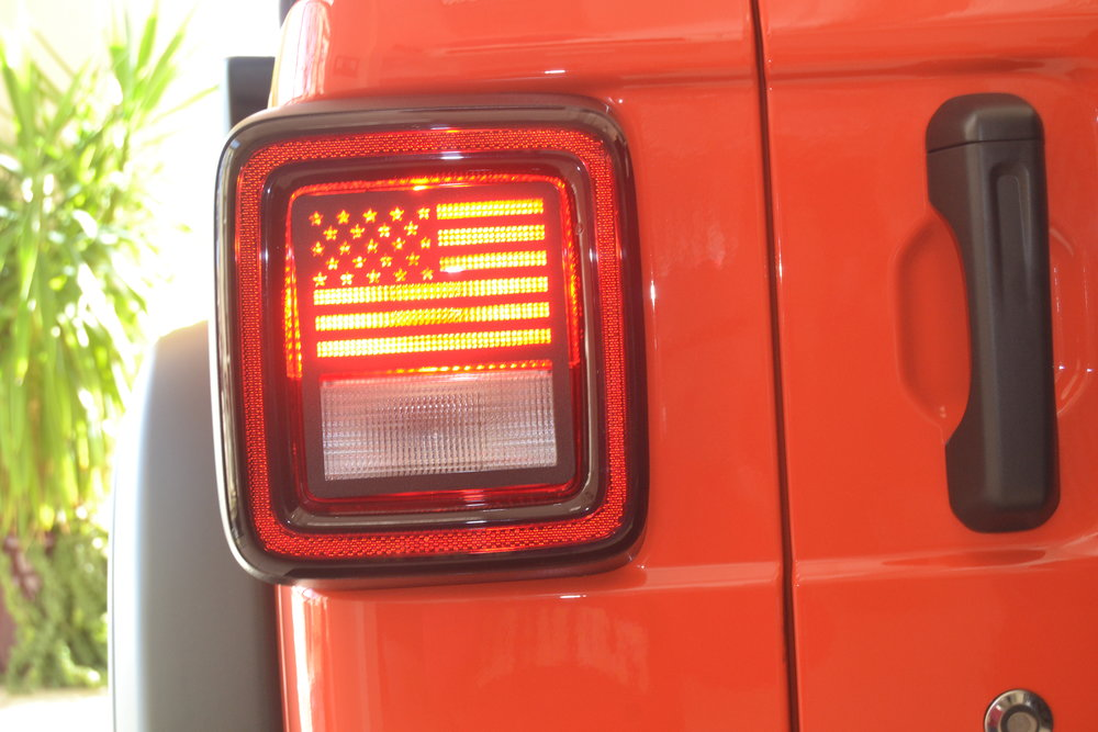 NEW - 2018 PRESENT  JL  WRANGLER USA PROUD TAILLIGHT GUARD.  SEE PLACE YOUR ORDER PAGE FOR ADDITIONAL DETAILS.