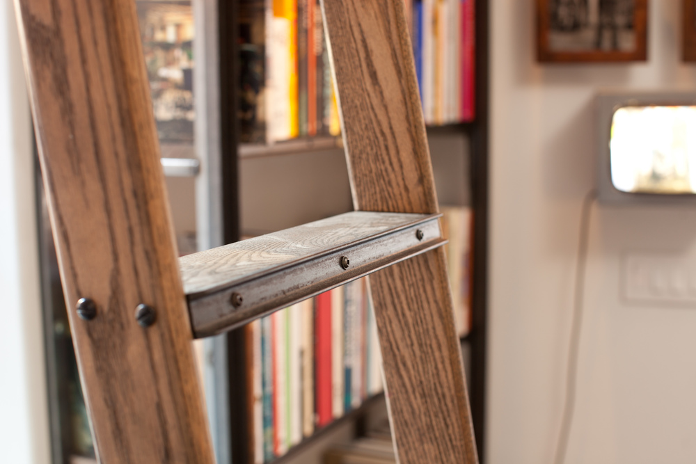 SoHo Loft  Custom ladder, mild steel and oak