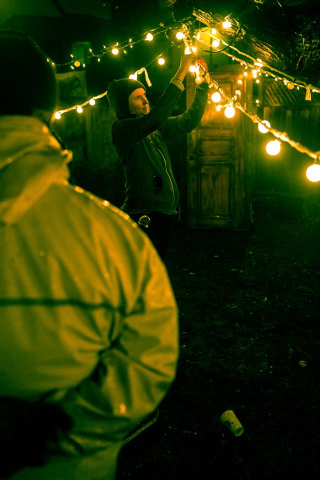 Production Designer Jessie Chaffin creating the siren's den.